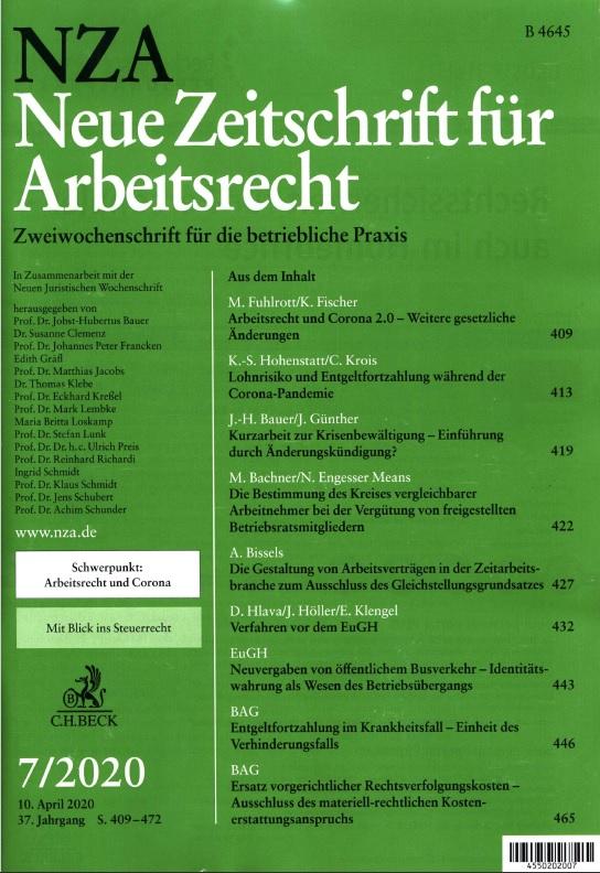 Neue Zeitschrift für Arbeitsrecht (NZA)